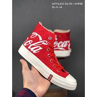 Kith x CocaCola x Converse cheap mens and womens Fashion Canvas Flats Sneakers Sport Shoes