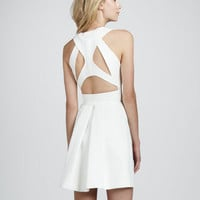 Sleeveless Cutout-Back Dress