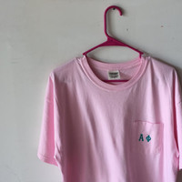 Sorority/ Fraternity Monogramed Pocket Tee w/ Greek Letter - Comfort Colors