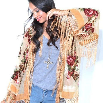 Beaded Victoriana Silk Jacket