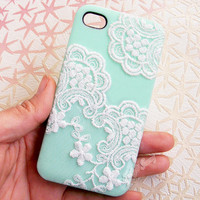 Handmade Lace Case For iPhone4/4S,iPhone5