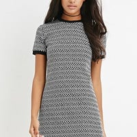 Geo-Patterned Shift Dress