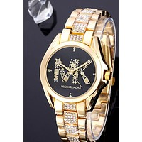 MK 2019 new diamond-studded steel belt female models wild quartz watch