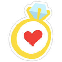 'Whimsical wedding ring stickers' Sticker by Mhea