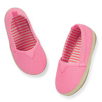 carter's pink slip-on shoes