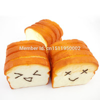 1 Kawaii Jumbo Toast Squishy Expression Card Cellphone Holder Hand Pillow Bread Scent Toys