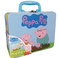 Cardinal Industries Peppa Pig Puzzle in Tin with Handle (24 Pieces)