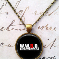 How I Met Your Mother Necklace, Barney Stinson, WWBD, Bro Pendant T720