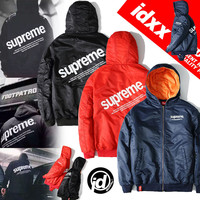 "Men's Fashion ""Supreme"" Winter Hats Outdoors Sports Thicken Jacket [9361197191]"