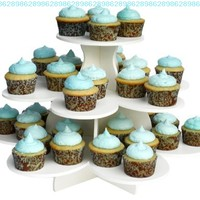 Cupcake Tower - Holds 36-48 Cupcakes with Optional Bases Allowed for Multiple Configurations - By The Smart Baker