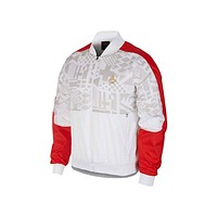 Air Jordan Men's AJ 4 FIBA Legacy White Red Flight Track Jacket