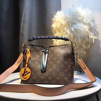 Kuyou Gb59819 Lv Louis Vuitton M55090 Monogram Handbags Top Handles Beaubourg Hobo Mini 25.0x 21.0x 15.0 Cm