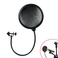 New Double Layer Studio Recording Microphone Wind Screen Mask Mic Pop Filter Shield For Speaking Recording
