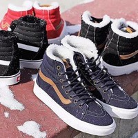 DCCKIJG Vans Winter Warm Velvet Shoes Sneaker
