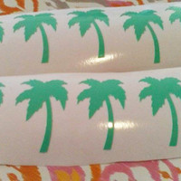 Palm Tree Stickers, Palm Tree Decorations, Set of 10 Self adhesive Palm Tree Decal