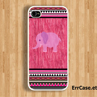 The Pink World of Elephant and Sweet Aztec Design: Iphone 4/4s case Iphone 5 case
