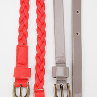 Urban Outfitters - BDG Belt Duo - Set Of 2