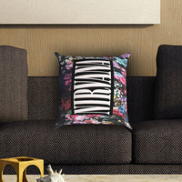 Nirvana Floral Pillow Cover , Custom Zippered Pillow Case One Side Two SIde