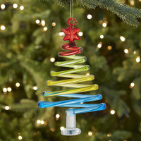 Glass Curly Tree Ornament