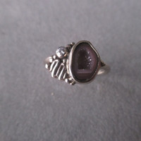 One of a Kind 14Kt White Gold Geode Druzy Ring