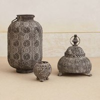 Siva Lantern by Anthropologie Grey