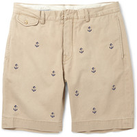 Polo Ralph Lauren - Slim-Fit Anchor-Embroidered Cotton Shorts   MR PORTER