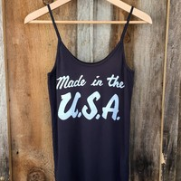 Made in the USA Sissy Tank Blk/White | Bandit Brand General Store