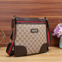 GUCCI Fashion Leather Fashion Office Bag Crossbody Shoulder Bag Satchel