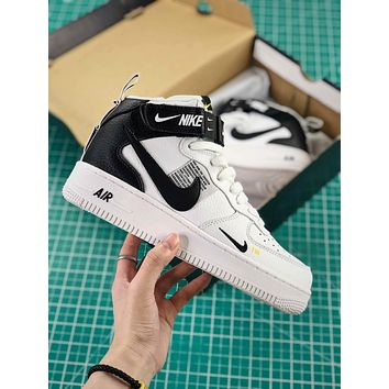 Nike Air Force 1 07 Mid Utility Pack Af1 White Black High Fashion Shoes