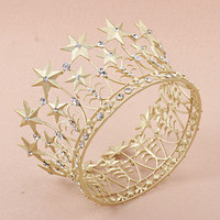 Vintage Glam - I See Stars Gold Star Crown