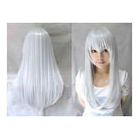 Wonderland Long 60cm Blonde Straight Synthetic Cosplay Wig   silver