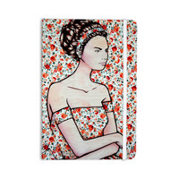 """Brittany Guarino """"Spring Fashion"""" Wood Flowers Everything Notebook"""