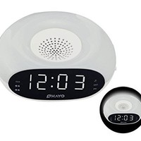Number-One Digital FM Clock Radio Dual Alarms Clock with FM Radio Sleep Timer and Snooze Functions, Alarm Clock with Night Light