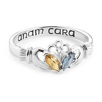 Sterling Silver Claddagh Couples Ring with Diamond Accent at Things Remembered