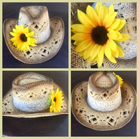 Cream Lace & Sunflower Country Crown