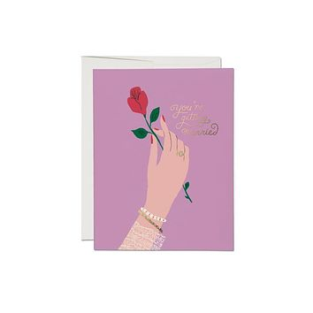 Engagement Rose Foil Card