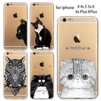 Cat or Owl Phone Case For iPhone