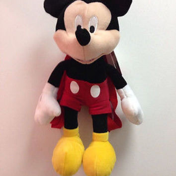 """Walt Disney Mickey Mouse Clubhouse Plush Backpack Tote 17"""" NEW with Tags!"""
