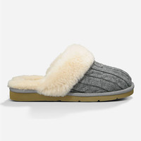 Ugg Cozy Knit Womens Slippers Grey  In Sizes