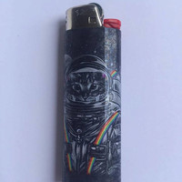 Cat astronaut in space custom BIC lighter