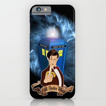 11th Doctor with Banana iPhone 4 4s 5 5c 6, pillow case, mugs and tshirt iPhone & iPod Case by Three Second