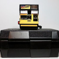 WORKING Tested NEW Vintage Yellow Polaroid Job Pro Instant Camera 600