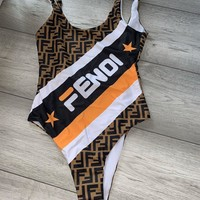 Fendi FF One-piece Swimsuit Bikini Set