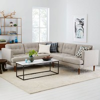 Peggy Mid-Century L-Shaped Sectional