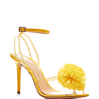 Pom PVC and Patent-Leather Sandals