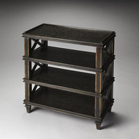 Butler Specialty Gately Black Crackled Tiered Console Table - 3390070