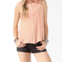 Sleeveless Tiered Pintuck Shirt