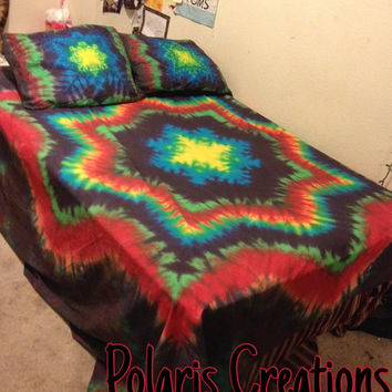 Custom Tie Dye Bedding, Tye Dye Bed Sheet Set