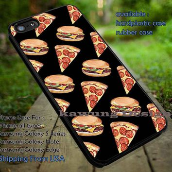 Pizza and Hamburgers iPhone 6s 6 6s+ 5c 5s Cases Samsung Galaxy s5 s6 Edge+ NOTE 5 4 3 #art DOP6181