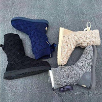UGG Sells Fashionable Women's High Bow Cashmere Snow Boots